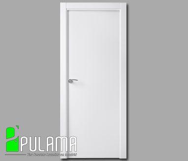 Puertas abatibles lacadas modernas puertas de paso pulama - Puertas lisas blancas ...