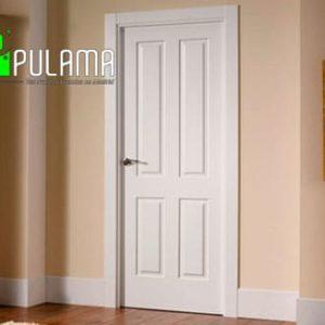 Puerta lacada abatible blanca Aravaca