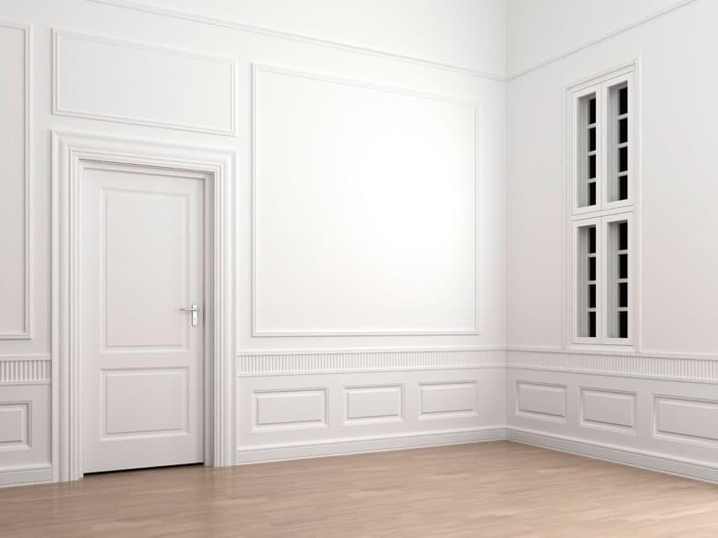 Decoración interior con puertas blancas lacadas