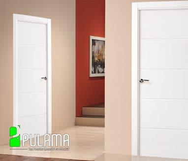 Puerta lacada abatible Madrid LVD7 9005 8500 U-VT-5